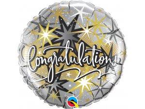 "18"" Fóliový balónek kruh - Gratulace!"