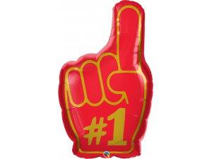 "37"" Fóliový balónek ruka - Číslo #1"