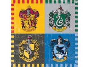Papírové ubrousky dvouvrstvé - Harry Potter koleje, 16ks