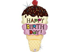 """33"""" Narozeninová zmrzlina - Fóliový balónek"""