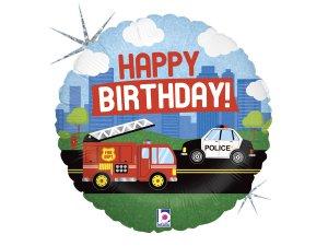 """18"""" Záchranné složky narozeniny - Fóliový balónek 46 cm"""