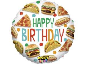 """21"""" fóliový balónek kruh - Fast Food Narozeniny"""