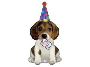 """41"""" Narozeninové štěně - Fóliový balónek 104 cm"""