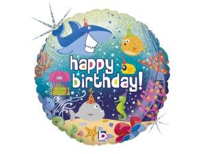 "18"" Narozeninový oceán - Fóliový balónek 46 cm"