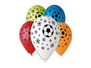 Balónek pastel 30 cm fotbal potisk (100ks/bal)