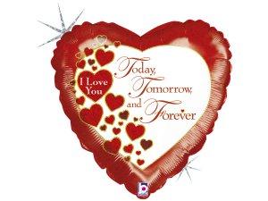 """18"""" srdce - Miluji Tě dnes, zítra a navždy"""