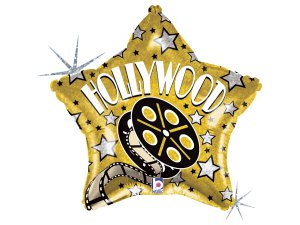 """19"""" Hollywood hvězda - Fóliový balónek 48 cm"""