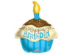 Balónek 46cm - CUPCAKE modrý