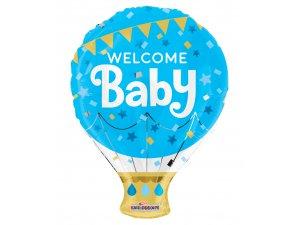 Balónek 46cm - Balón modrý - Vítej miminko