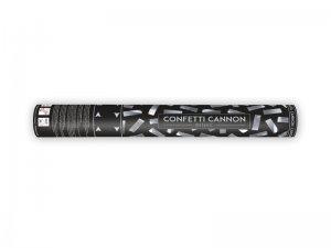 Konfety vystřelovací - stříbrné pásky 40cm