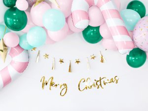 """Girlanda papírová - Zlatý nápis """"Merry Christmas"""" lesklý 83cm - big_GRL90-019M_03_S.jpg"""