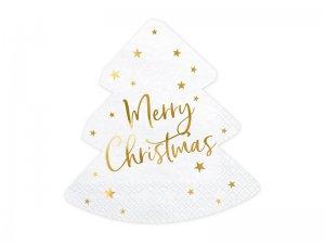 "Papírové ubrousky ""Merry Christmas - stromeček"" 20ks"