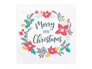 """Papírové ubrousky """"Merry Little Christmas"""" 20ks"""