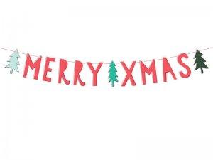 "Závěsný baner ""Merry Christmas"""