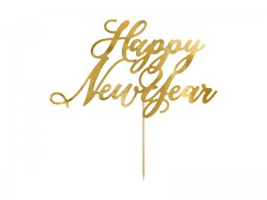 "Dortová ozdoba ""Happy New Year"" zlatá"