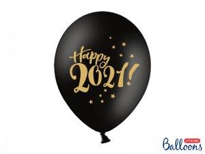 """Balónek pastel 30cm potisk """"Happy 2021!"""" 50ks"""