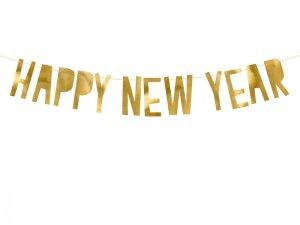 """Závěsný baner """"Happy New Year"""" zlaté"""