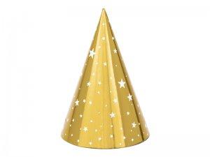 """Čepičky """"Zlaté s hvězdami"""" 6ks"""