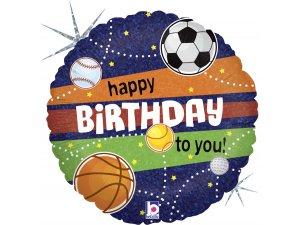 """18"""" Sportovcovy narozeniny - Fóliový balónek"""