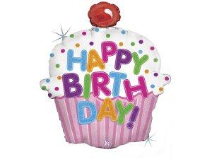 "31"" Narozeninový Cupcake - Fóliový balónek"