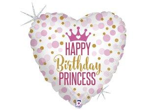 """18"""" Všechno nejlepí Princezno! - Fóliový balónek"""