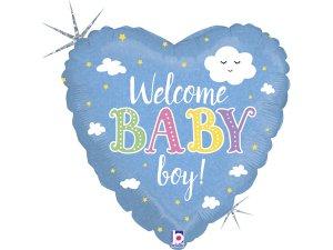 "18"" Vítej chlapečku! - Fóliový balónek"