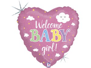"18"" Vítej holčičko! - Foliový balónek"