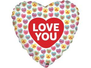 "18"" Love you srdíčka - Fóliový balónek"