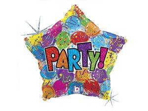 """18"""" Party hvězda - Fóliový balónek"""