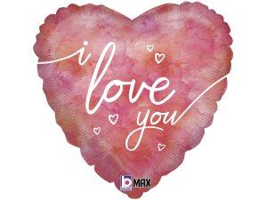 "18"" Vodovkové srdce I love you - Fóliový balónek"