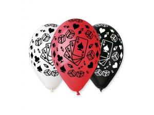 Balónek pastel 30 cm karty potisk (100ks/bal)