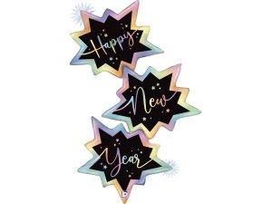"""32"""" Šťastný Nový rok! hvězdy - Fóliový balónek"""