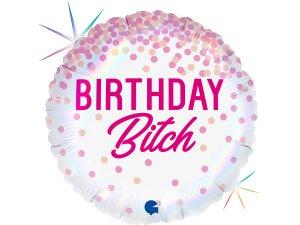 """18"""" Birthday Bitch - Fóliový balónek"""