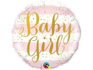 """18"""" fóliový balónek kruh - Baby girl 46cm"""