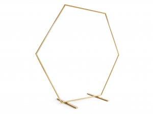 Dekorační stojan zlatý HEXAGON, 2m - SNT1_01_H.jpg