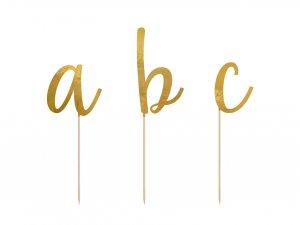 Dortová abeceda, zlatá, 53ks
