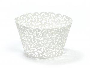 Košíček na cupcake 5.5 x 8.5cm, bílý 10ks