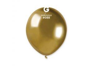 """Balónek metal 13cm/5"""" #088 zlatý lesklý"""