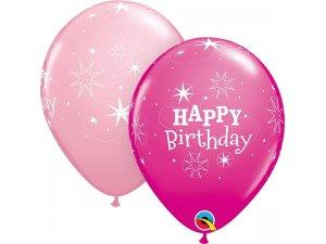 """11"""" latexové balónky - HB růžové 25ks"""