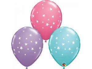 """11"""" latexové balónky - Hvězdy 25ks"""