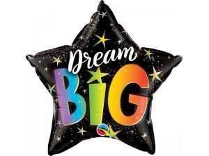 """18"""" fóliový balónek hvězda - Dream Big"""