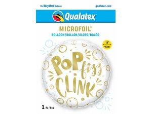 """18"""" fóliový balónek kruh - Pop Fizz Clink ! 46 cm - 15043b.jpg"""