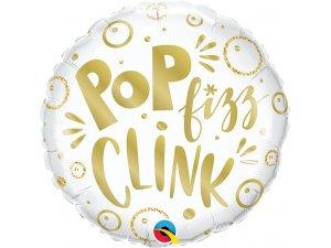 "18"" fóliový balónek kruh - Pop Fizz Clink ! 46 cm"