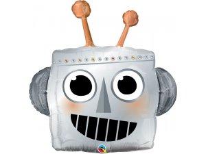 """35"""" fóliový balónek - Robotí hlava"""