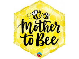 "18"" fóliový balónek hexagon - Mother to Bee 51cm"