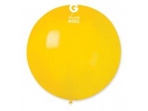 """Balónek 80cm/31"""" #002 žlutý"""