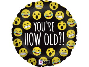 "18""/46cm Emoji - Jak jsi starý?!"
