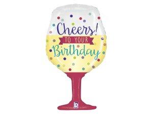 "34""/86cm Sklenička - Cheers To Your Birthday"