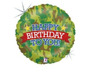 """18""""/46cm kruh - Army narozeniny"""