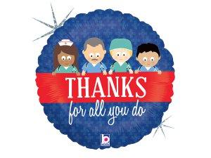 """18""""/46cm Děkujeme zdravotníkům!"""